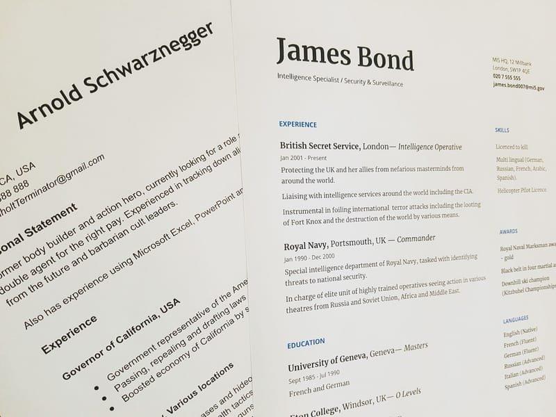 CV FORMATTING AND WRITING