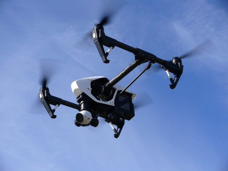 Aerial work . Drone, Fixed wing or  helicopter.