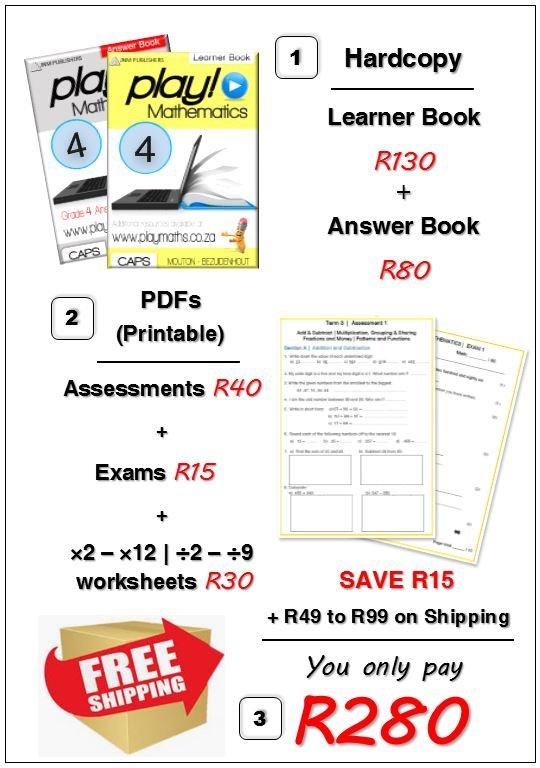 Gr 4 Bundle Deal - Maths/ Wiskunde