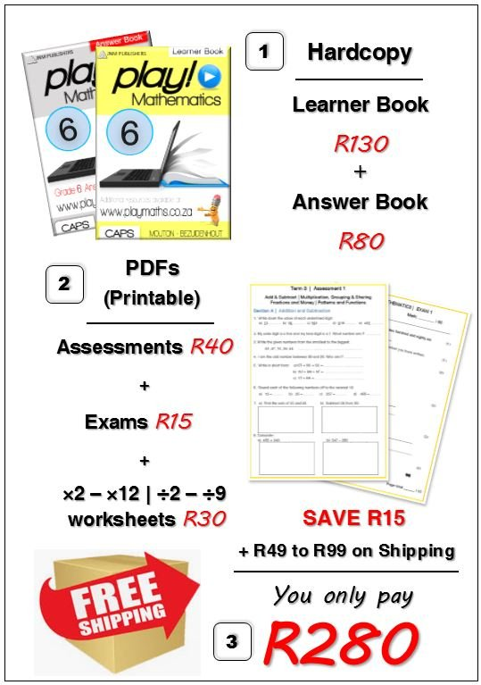 Gr 6 Bundle Deal - Maths/ Wiskunde