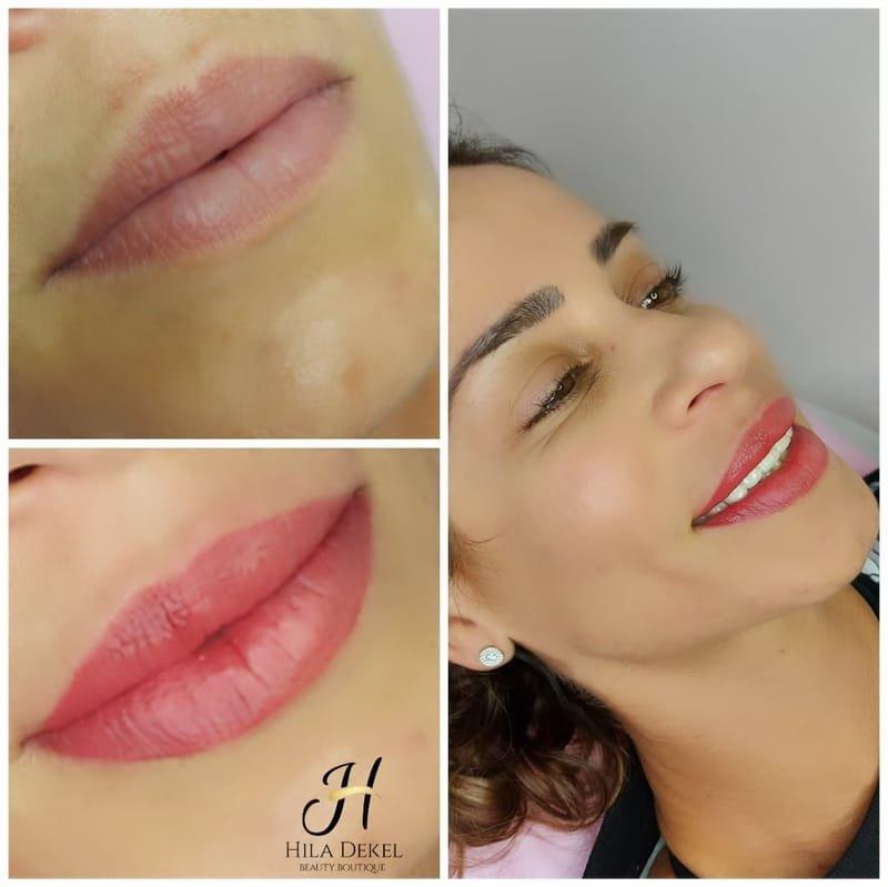 הדגשת שפתיים