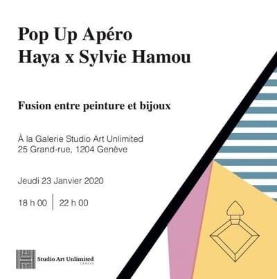 POP UP le 23 janvier 2020 - fusion entre bijou et peinture
