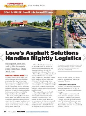 Who is Love's Asphalt Solutions?