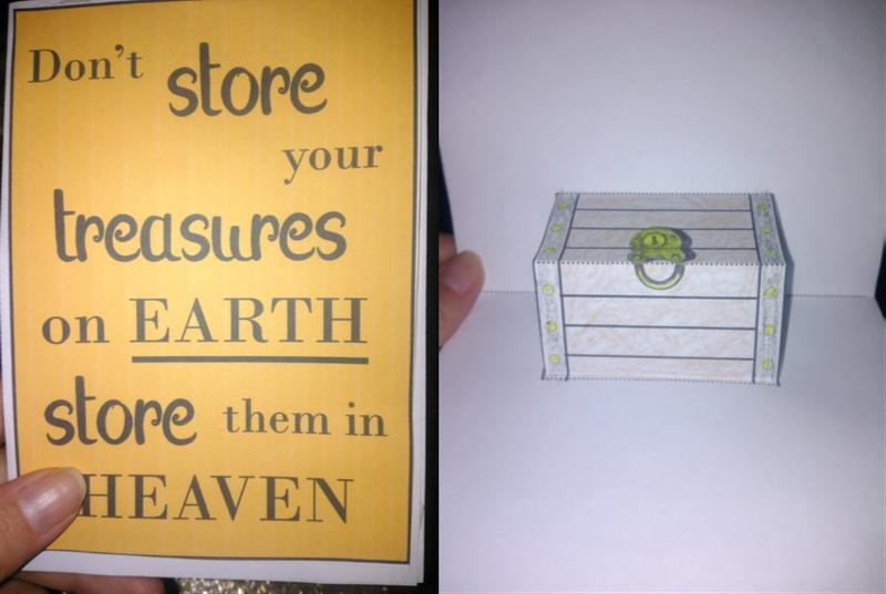 Treasures in Heaven Popup Card