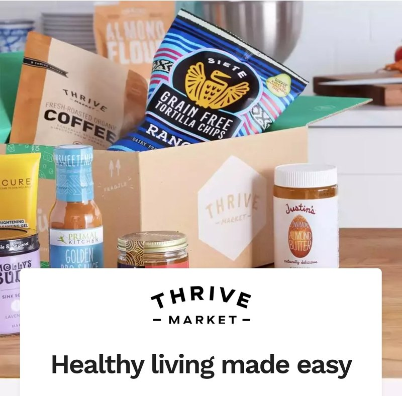 25% off 1st Thrive Market order + Free gift