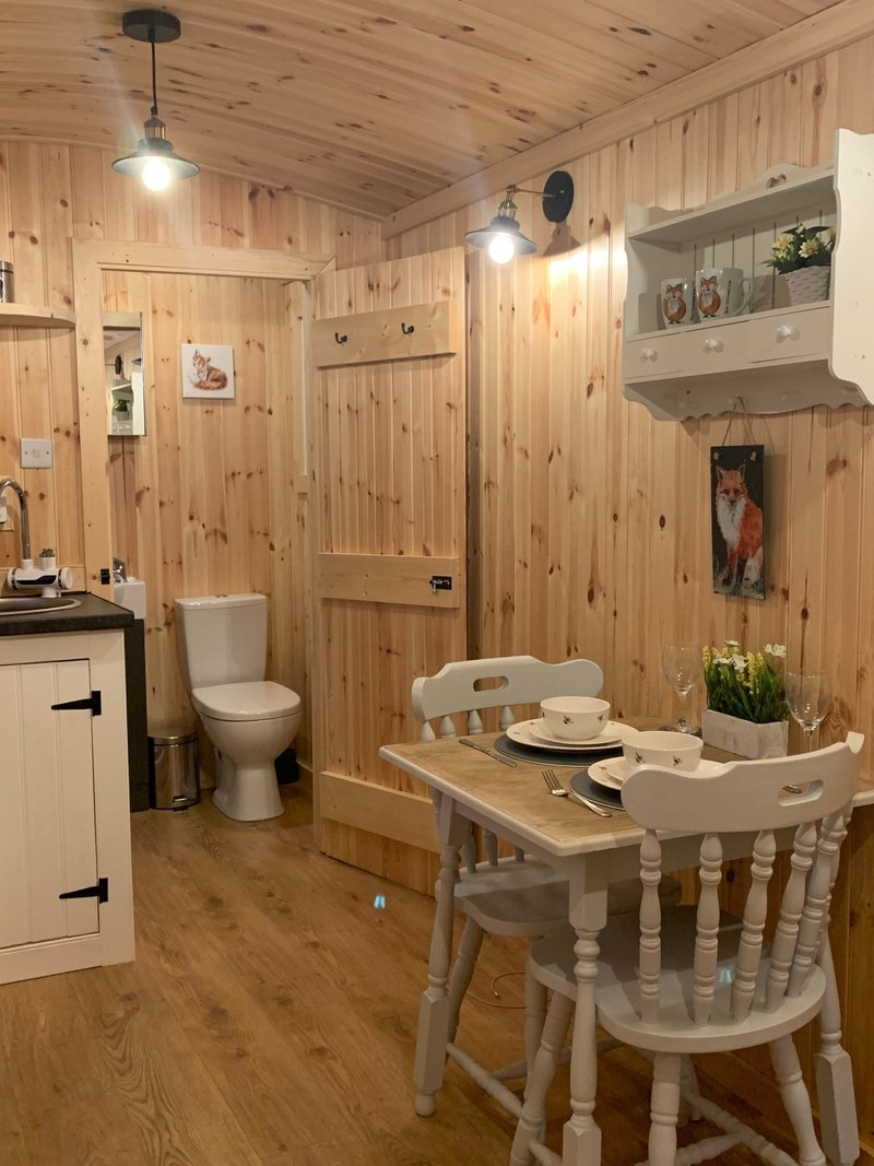 Snuggle up in our brand new shepherd huts . Barn Owl View , Fox Tails Den & Rabbits Burrow all will be available from August 2021