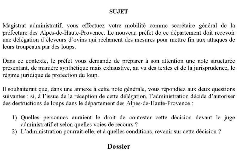 note administrative