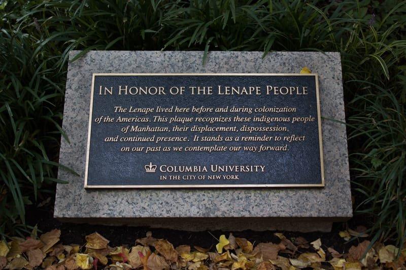 Lenape Plaque