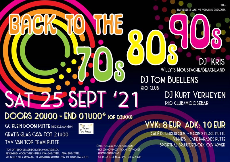 Back To The 70's, 80's en 90's