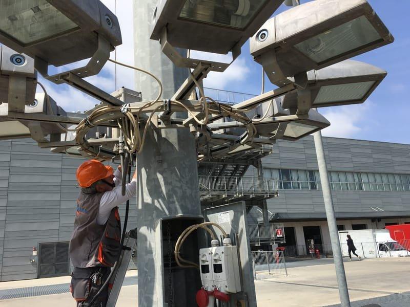 Ripristino efficenza illuminazione stradale su palificazioni e torri fari