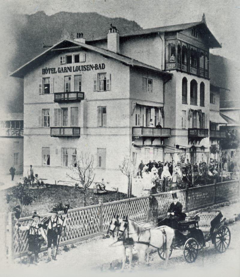 1864 - Bau des HOTEL GARNI LOUISEN-BAD