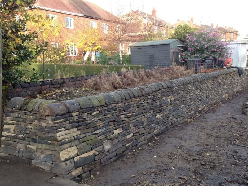 Restoration of ancient retaining wall