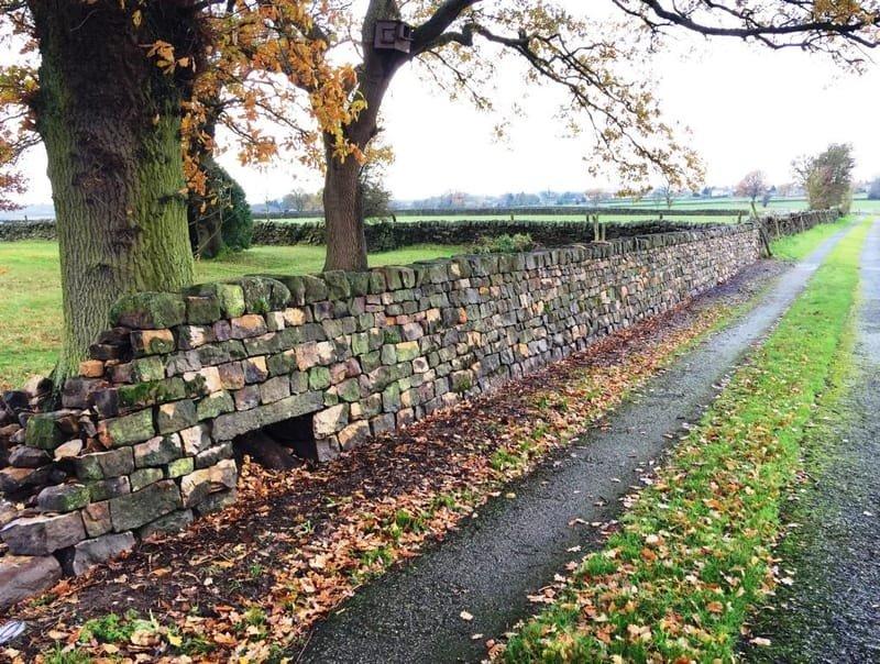 Drive way/field boundary wall