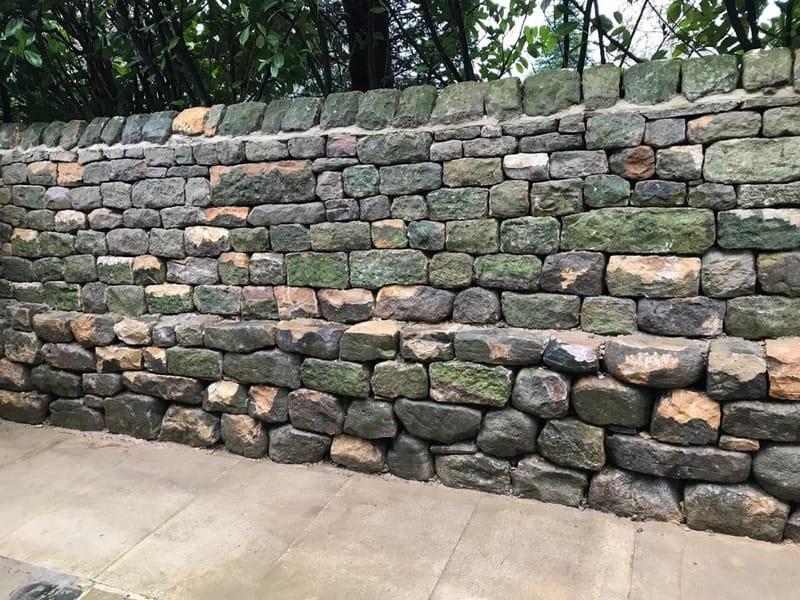 Rebuild of retaining wall