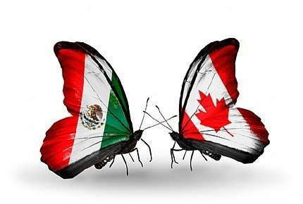Between Canada and Mexico