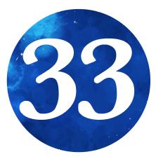 NUMBER 33 DEEP SKY BLUE
