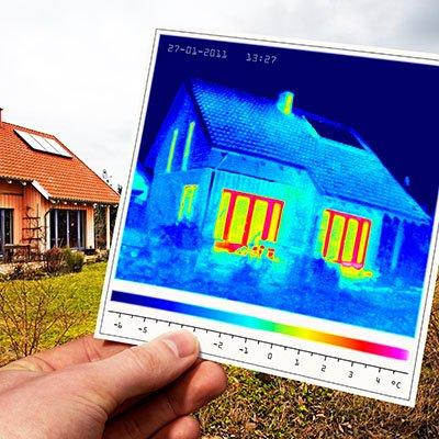 Thermografie eines Einfamilienhauses