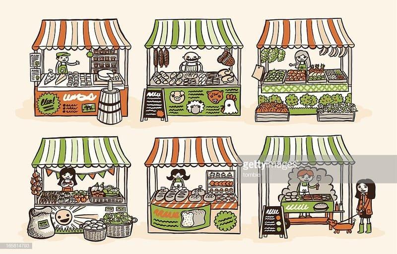 Market Stalls and Crafts