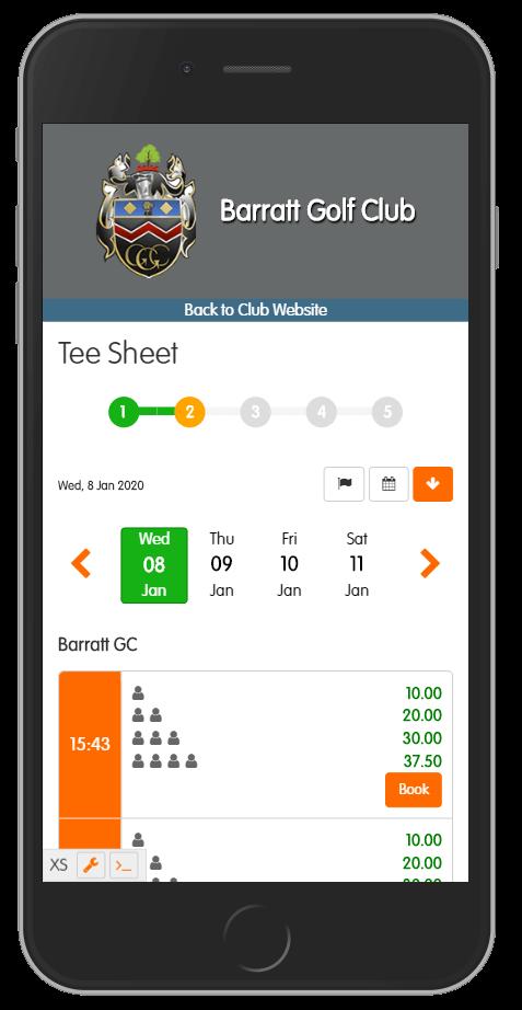 Online Tee Sheet for Members & Visitors