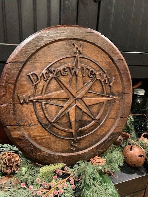 KY Bourbon Barrel lid signs