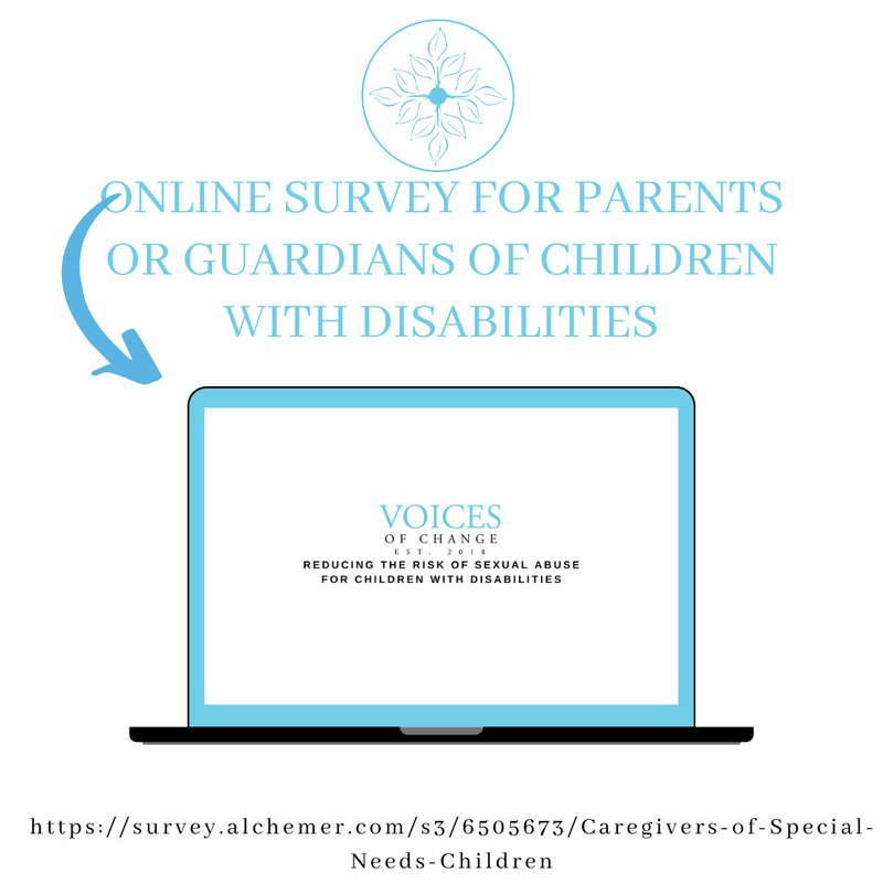 Online survey for Parents and Guardians of Children with Disabilities