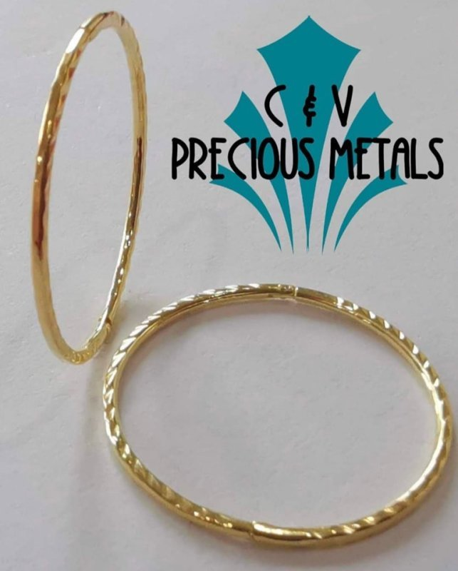 22ct YELLOW GOLD PLATED ON SOLID STERLING SILVER