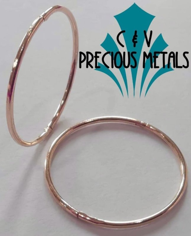 18ct ROSE GOLD PLATED ON SOLID STERLING SILVER
