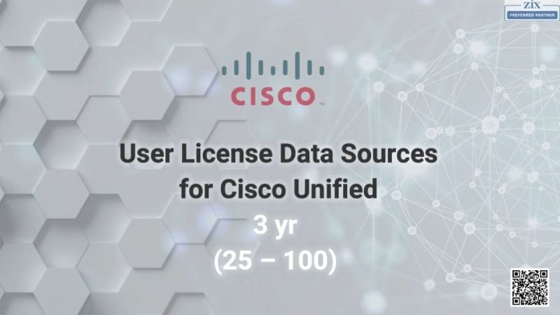 User License Data Sources for Cisco Unified 3 yr  (25 – 100)