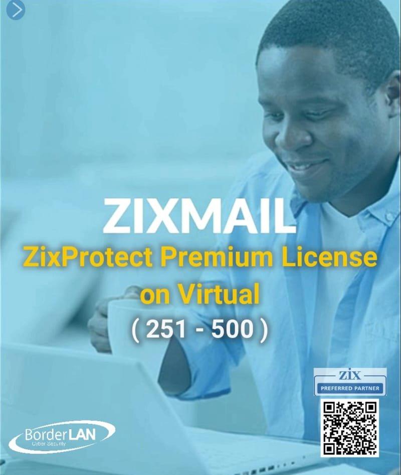 Standalone ZixMail License (250 – 500)