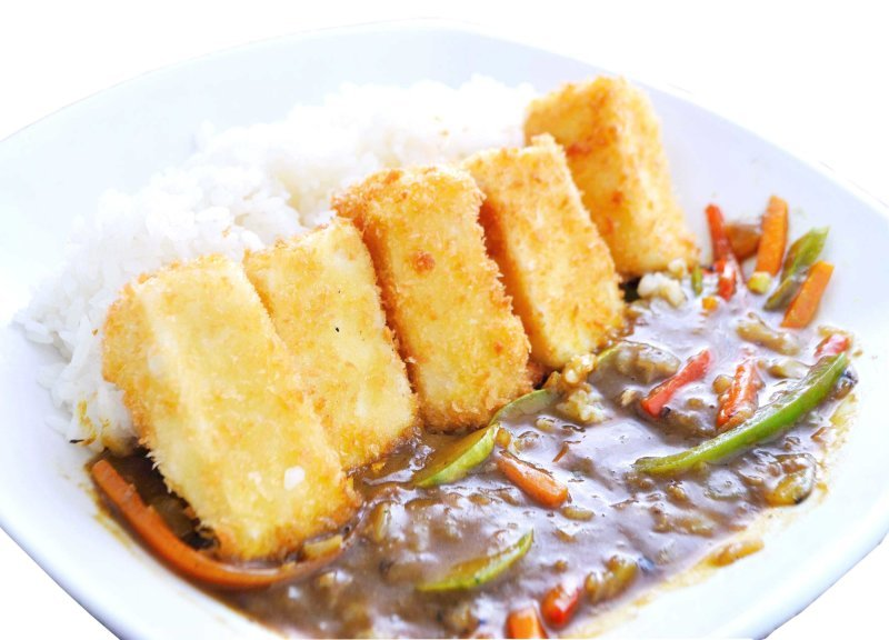 Тофу Катцу в Къри сос с Кая Кестенов Йогурт