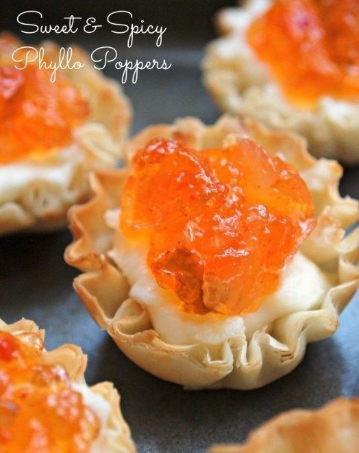 """Sweet and Spicy """"Phyllo Poppers"""""""