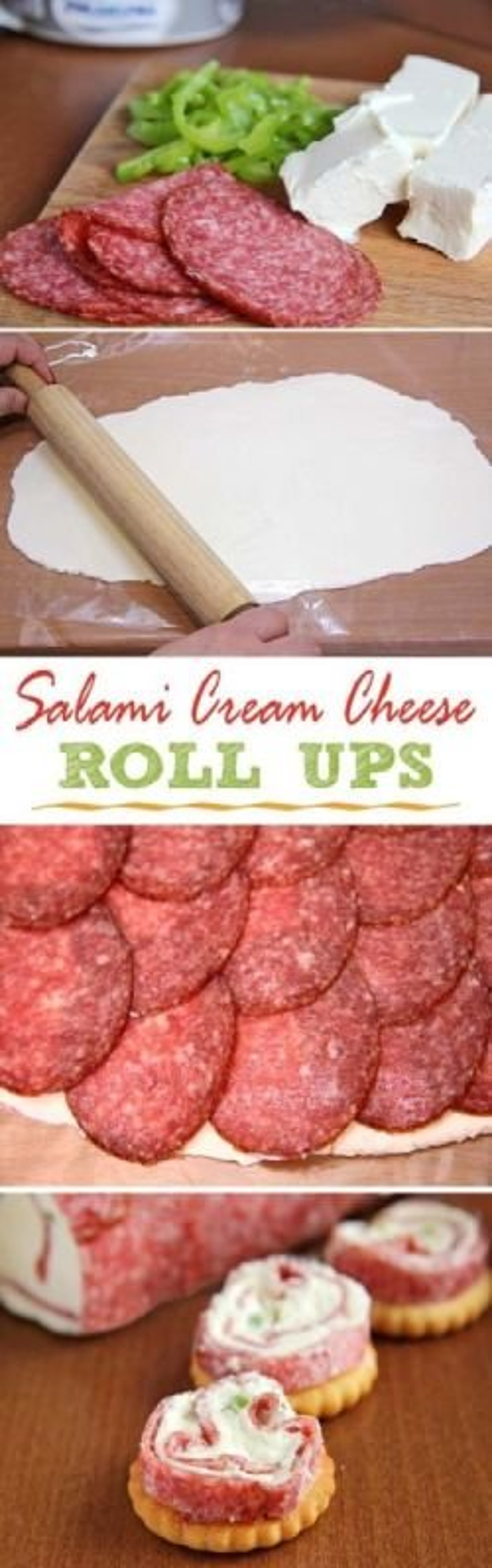 Salami & Cream cheese Roll