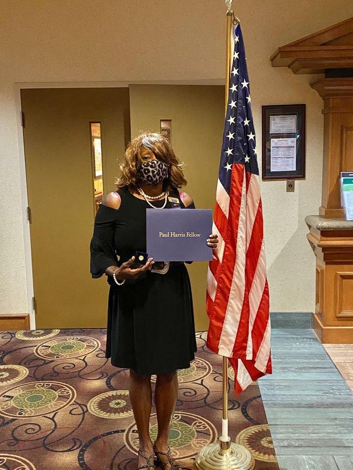 What an Honor!  Rotarian Donna Ezell Receives Prestigious Rotary Paul Harris Fellow Award