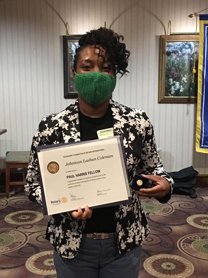 President Johnican Coleman Receives Paul Harris Fellow Award