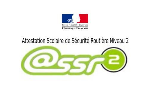 ATTESTATION ASSR2 NIVEAU 2