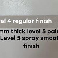 Drywall - Level 5 Finish