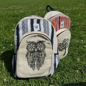 Hemp Backpacks THC free. Genuine HempStyle product. Made in a Fair Trade environment in Nepal.
