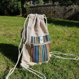 One Earth Draw String Hempstyle Bag