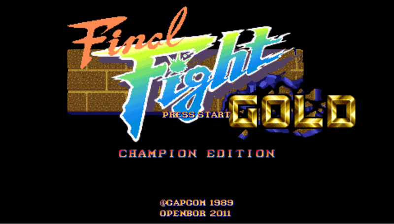 Final Fight Gold Champion Edition