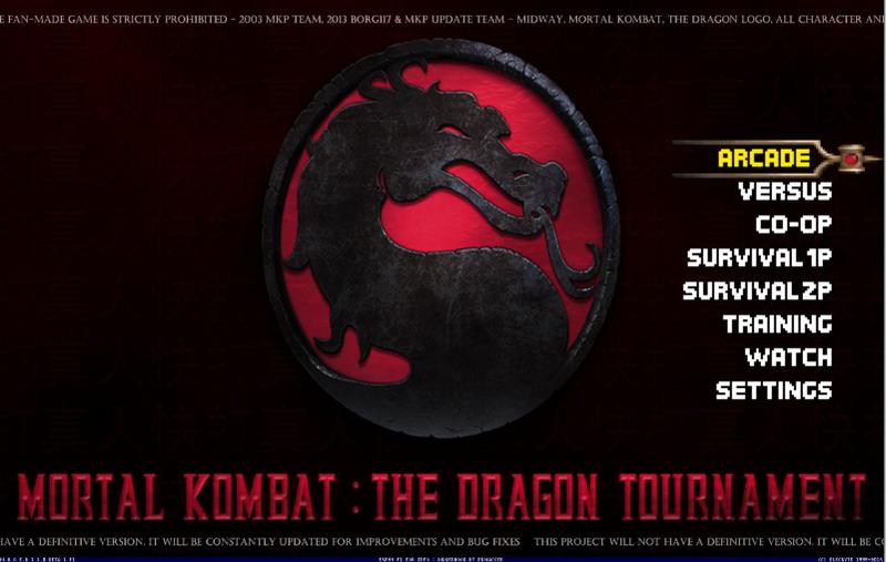 Mortal Kombat The Dragon Tournament