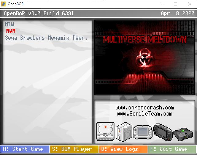 Multiverse Meltdown OpenBoR mini pack