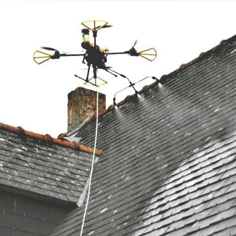 Isére drone demoussage toiture