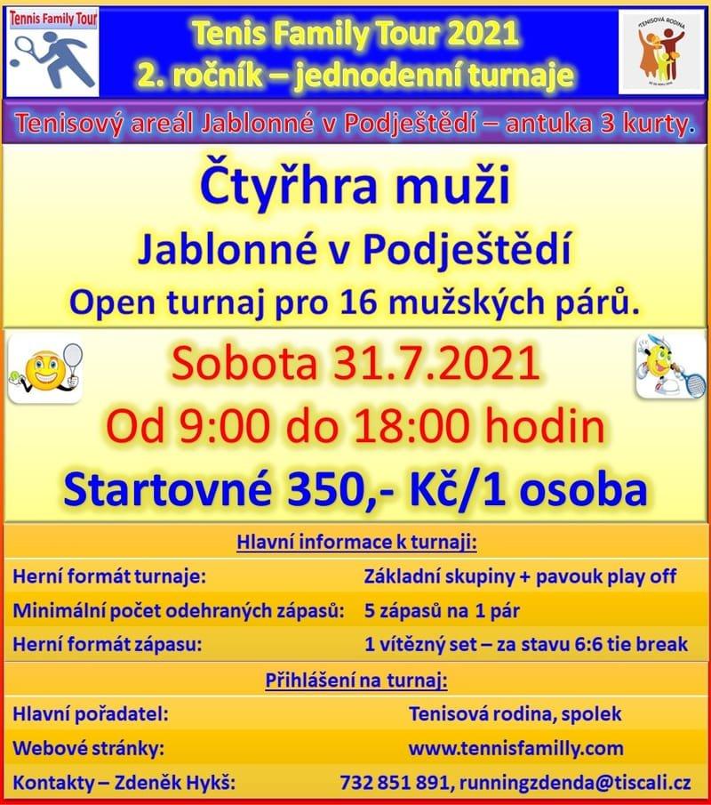 Čtyřhra muži - sobota 31.7.2021 - Jablonné v Podještědí.