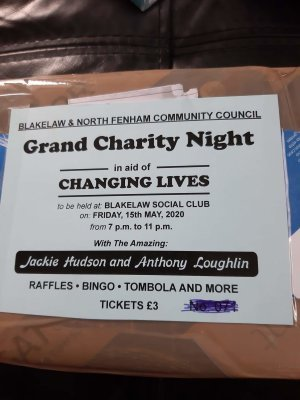 POSTPONED - charity night in aid of changing lives