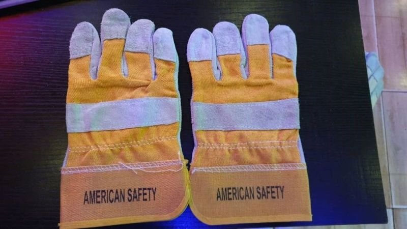 Combination Leather Premium Safety Hand Gloves.