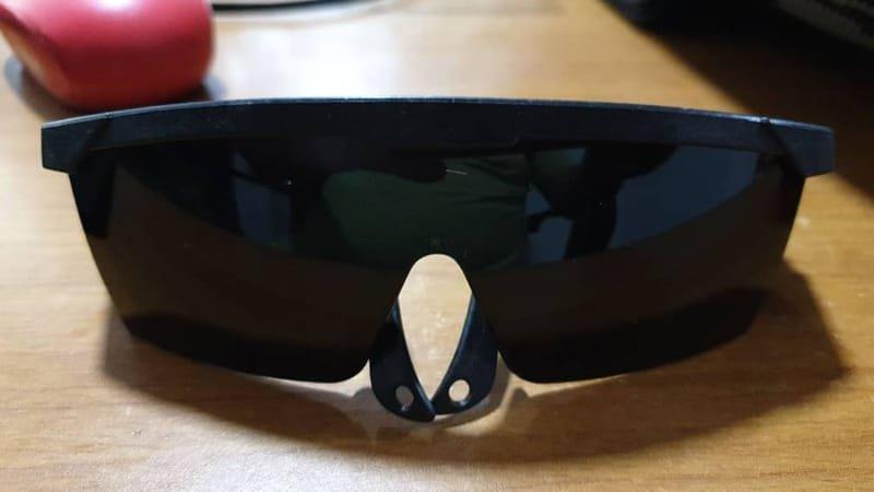 Safety Black Eye Glasses.