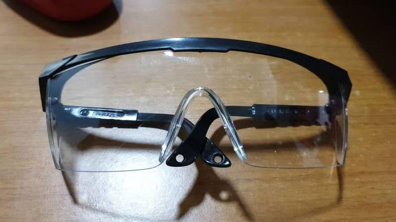 Safety White Eye Glasses.