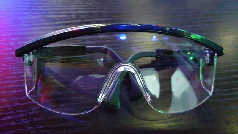 White Uvex Ultra Premium Eye Glasses (USA).