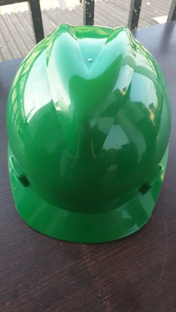 Green V-Guard Safety Helmet (MSA Certified)
