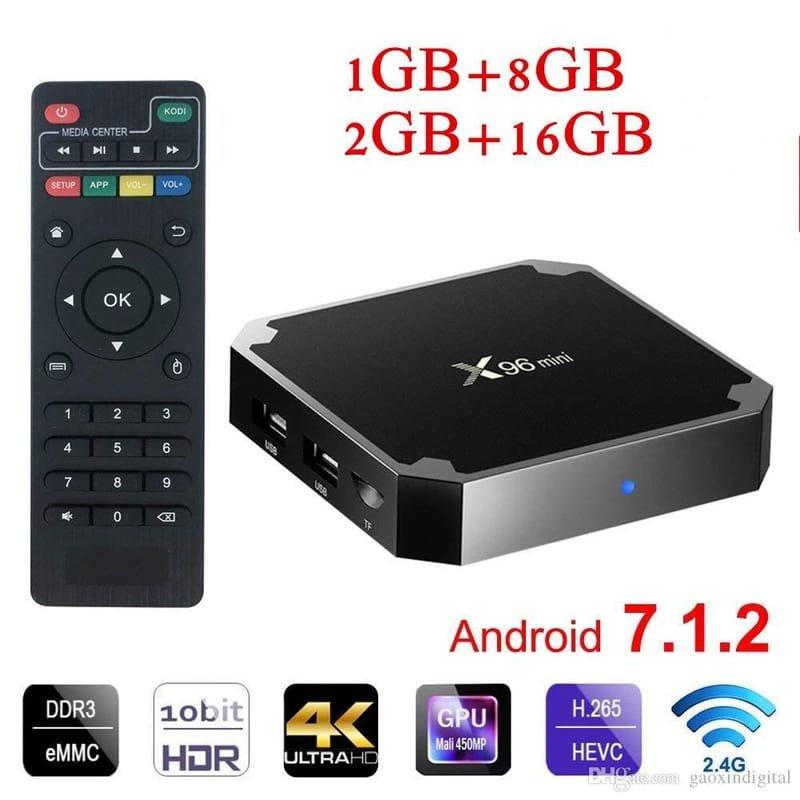 X96 Mini TV Android Box 1GB RAM 8GB Internal Memory